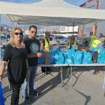 Διανομή τροφίμων σε ωφελούμενους ΤΕΒΑ του Δήμου Χαλκιδέων